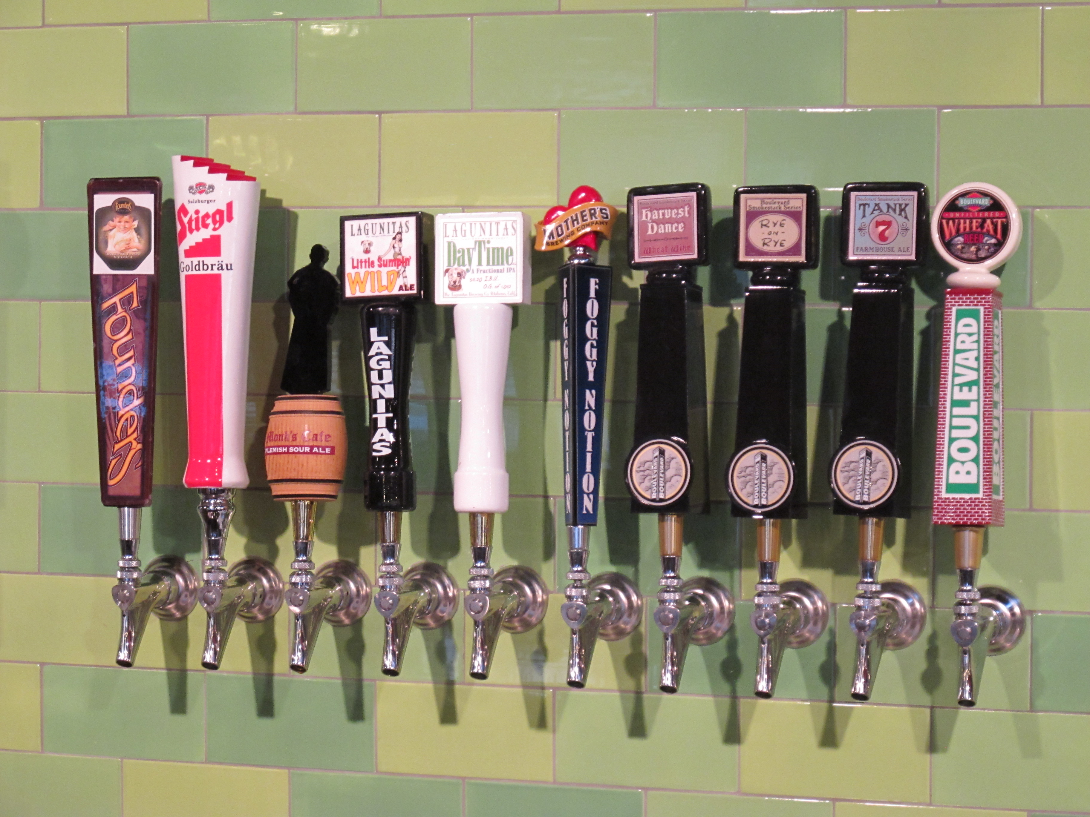 The cluster of taps to the right.  Notice the hometown pride with Boulevard's best.
